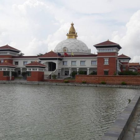 Nepali monastery in birthplace of Lord Buddha, Lumbini, Nepal