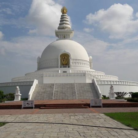 World Peace Pagoda in birthplace of Lord Buddha, Lumbini, Nepal