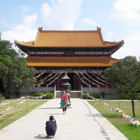 Chinese monastery in birthplace of Lord Buddha, Lumbini, Nepal