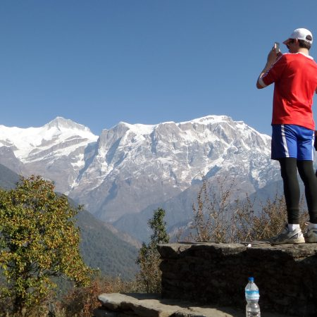View of Annapurna from Sikles village