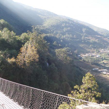 Tangting village and Suspension bridge