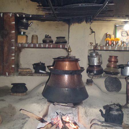 Local brewery process inside Gurung kitchen
