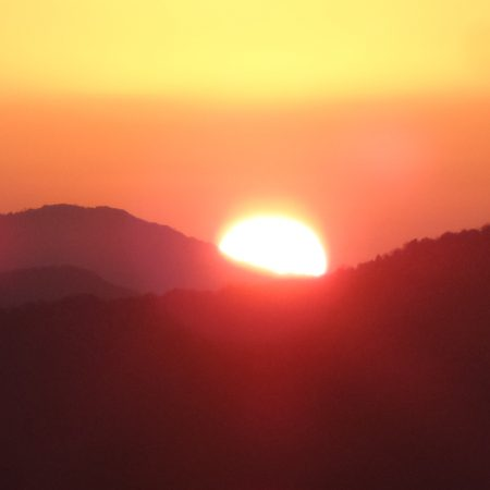 Sunrise seen from Poonhill