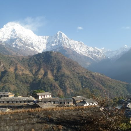 Ghandruk village with Annapurna range in background