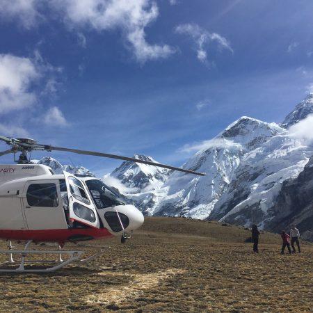 Landed Helicopter in Everest Base Camp area