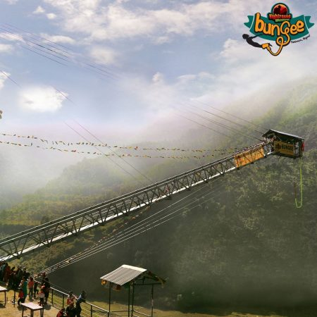 Bungee jumping tower in Pokhara, Nepal