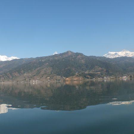 Annapurna reflection on Phewa lake