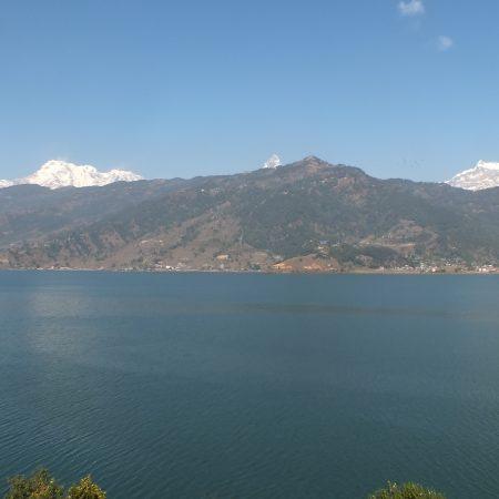 Phewa lake from World Peace Stupa