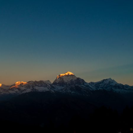 Dhaulagiri seen from Poon Hill, Himalayas