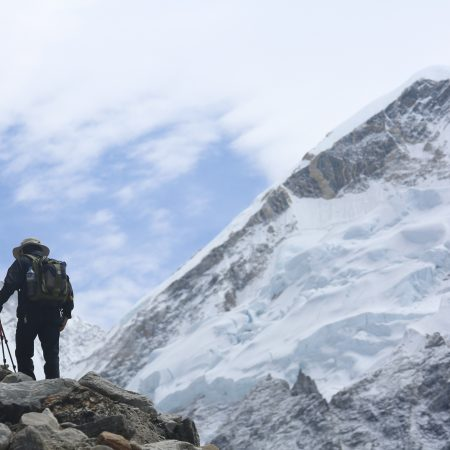 (EBC) Walking to Gorakhshep from Lobuche (EBC)