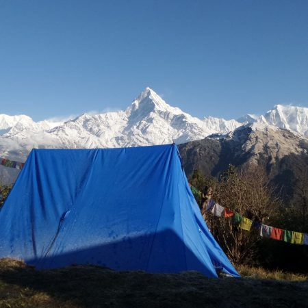 View of Mount Fishtail from Tara Hilltop