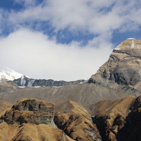 Barren mountain terrain in Annapurna