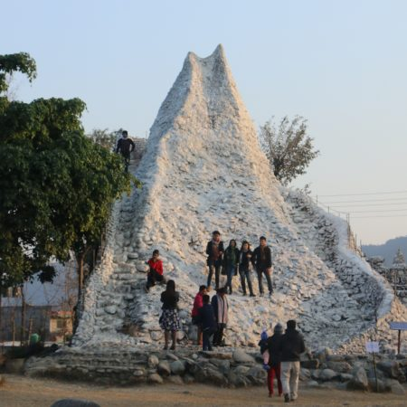 Manaslu model in International Mountain Museum Pokhara, Nepal