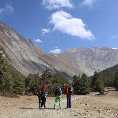 Trekkers in Annapurna Circuit, Nepal