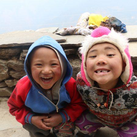 Happy faces in Helambu