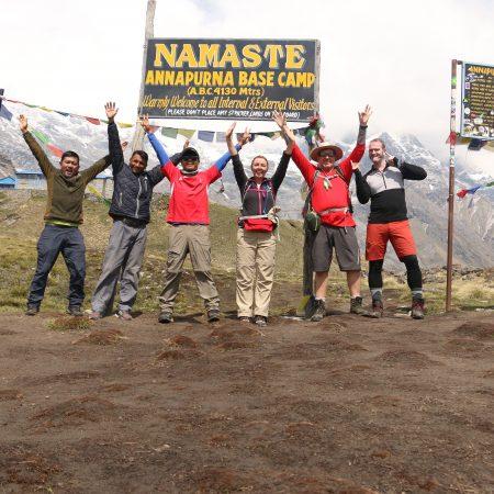 Trekkers in Annapurna Base Camp