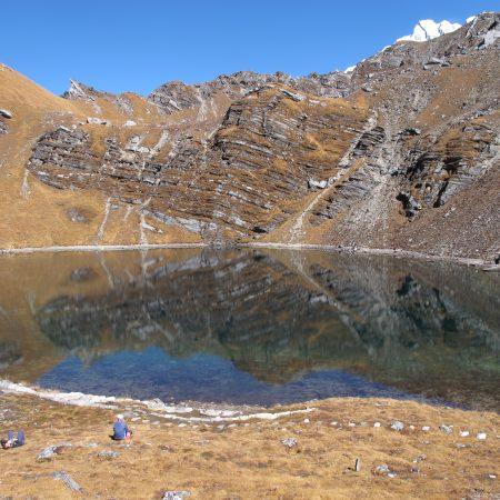 Khayer Lake during Khopra trek
