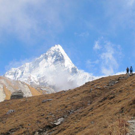 Mount Dhaulagiri from Annapurna-Dhaulagiri trek route