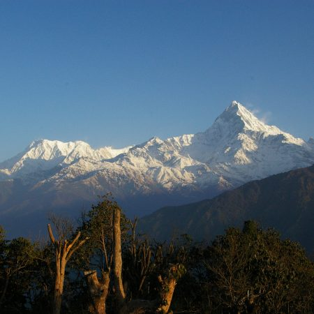 View of Mount Fishtail from Ghale Kharka