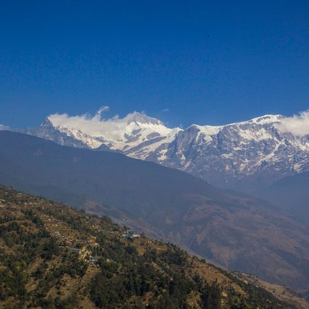 View of Annapurnas from Sikles