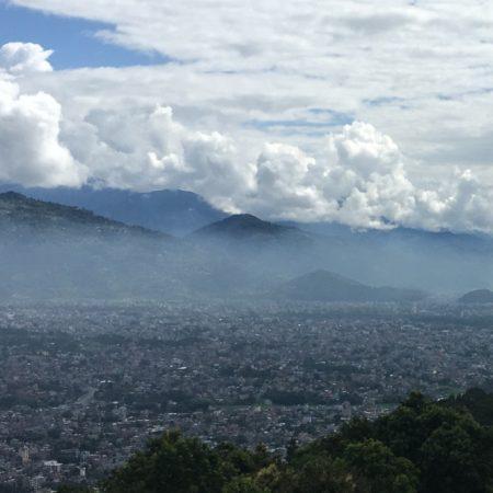 View of Pokhara valley from World Peace Pagoda Pokhara, Nepal